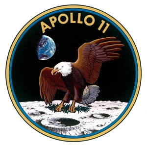 L'aigle, écusson de la mission Apollo 11